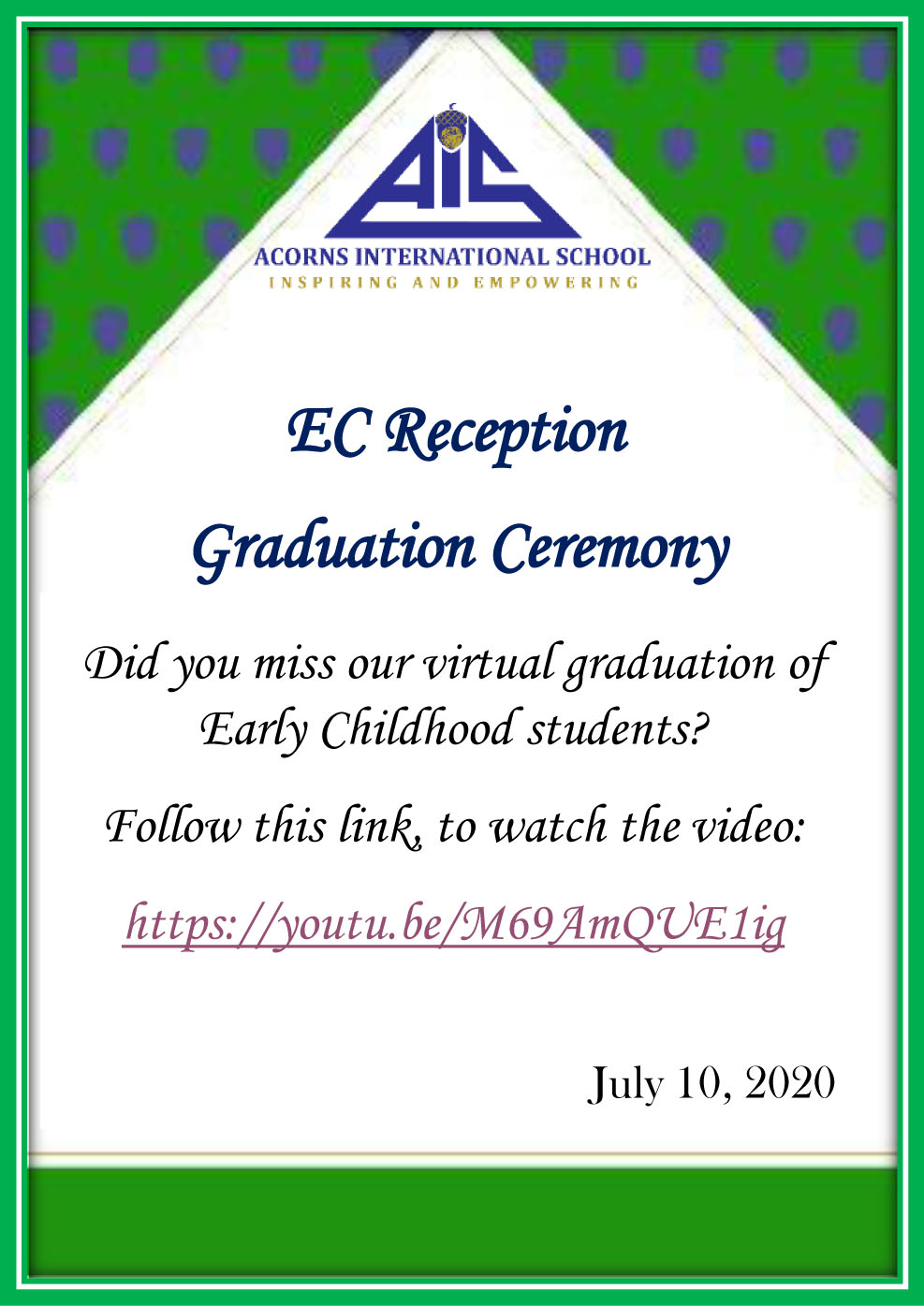 Reception Virtual Graduation