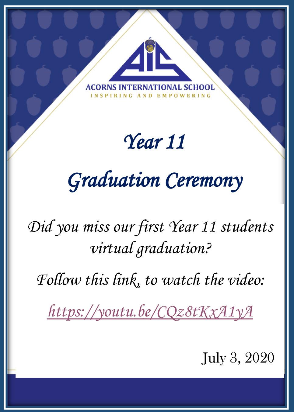 Y11 Virtual Graduation