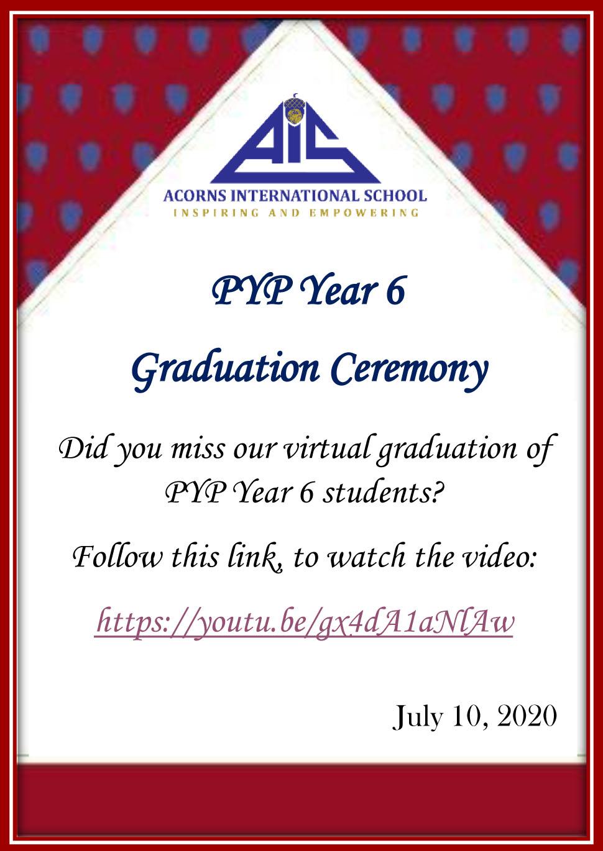 Y6 Virtual Graduation